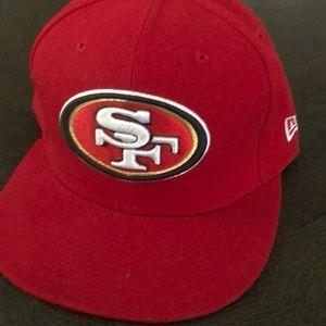 Red San Francisco 49er  new era 71/4  pro fit hat